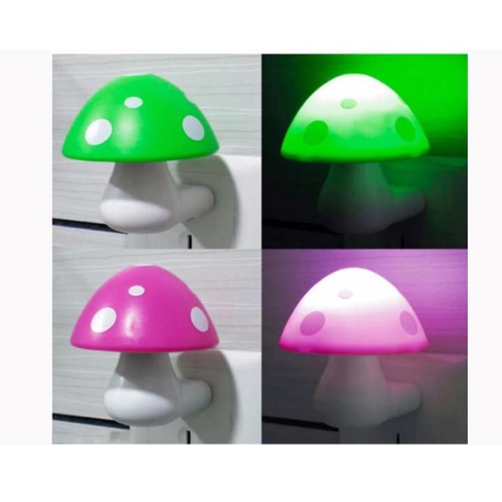 Combo 3 đèn ngủ hình cây nấm tự động sáng - Giao màu ngẫu nhiên