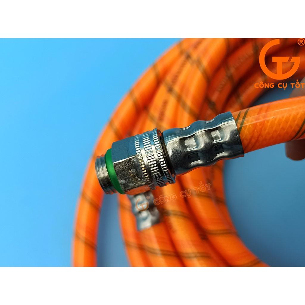 Dây rửa xe vằn 5 lớp áp lực Lion Air 280kgf/cm² - 27MPa Ø8.5mm dài 15m hai đầu ren nhỏ M14 trong ngoài
