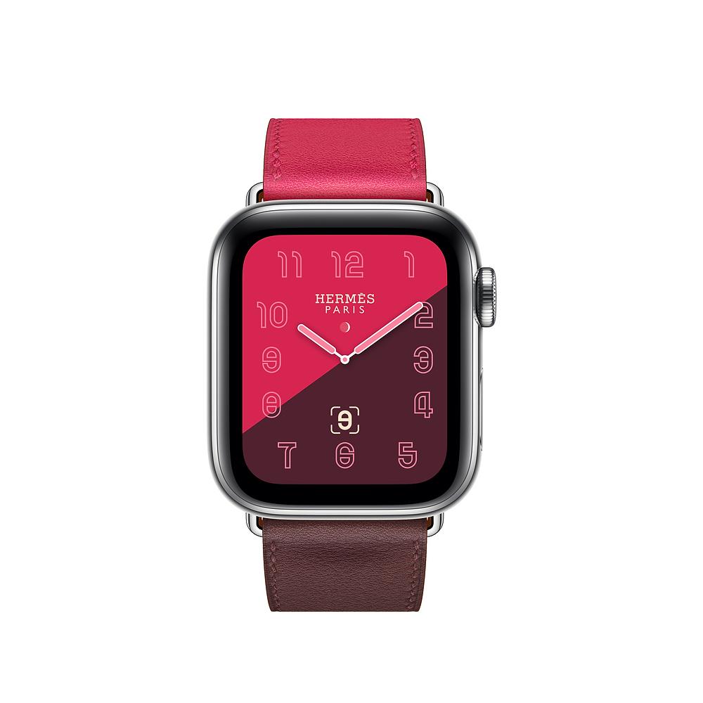 Dây đeo thay thế cho Apple Watch da 2 màu cap cấp _ Hồng Tím _ 40mm