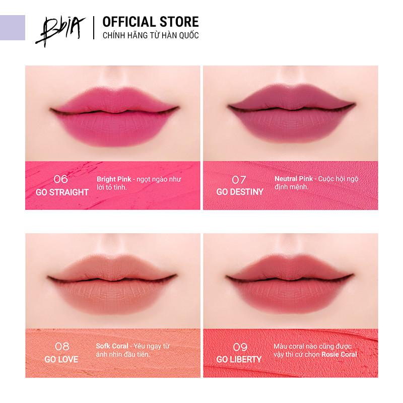 Son kem Bbia Never Die Tint Version 2 - Màu #09 GO LIBERTY - màu hồng san hô  4.8g