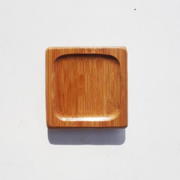 Combo 6 đế đặt chén tre vuông lõm vuông