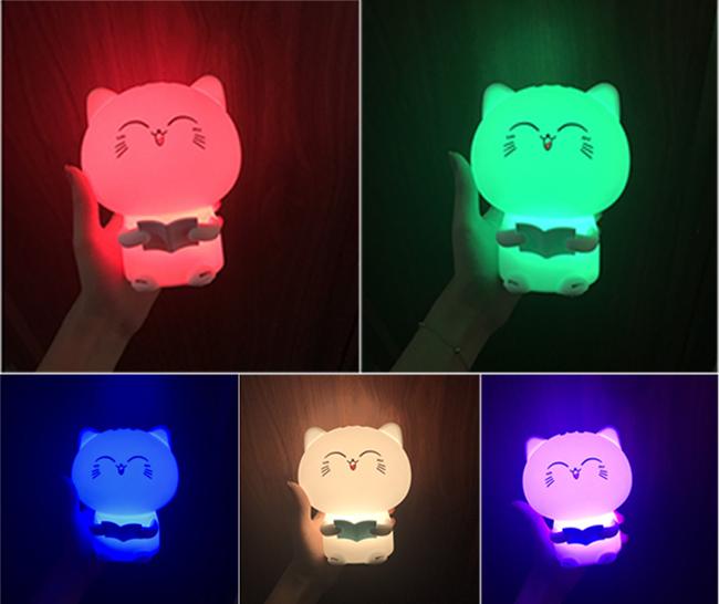 Đèn ngủ mèo con dễ thương - Ghi âm giọng nói