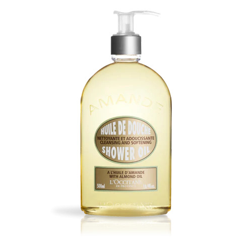 Dầu tắm hạnh nhân L'occitane Almond Shower Oil 500ml/Almond Shower Oil Cleansing And Softening 500ml