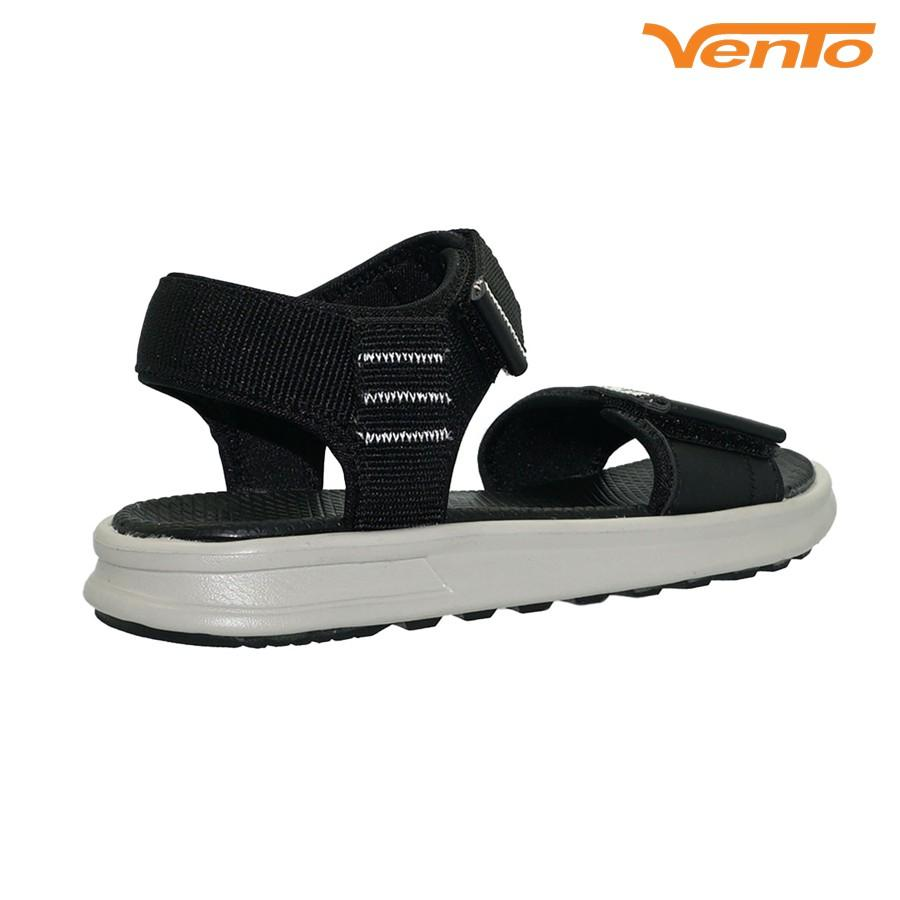 Giày Sandal Vento SD-NB93 Quai Ngang Da PU Màu Đen