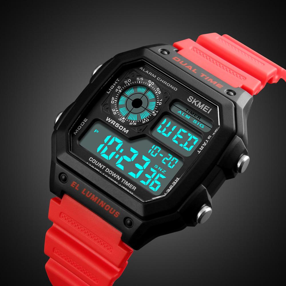 Đồng hồ đeo tay Skmei - 1299RD-Hàng Chính Hãng