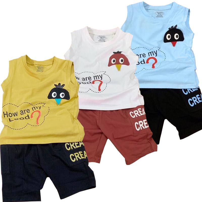 Combo 3 Bộ quần áo bé trai từ 8kg đến 23kg,vải cotton 100% mềm mại 4 chiều, thấm hút mồ hôi tốt, áo sát nách , quần có túi cho bé ( Giao màu ngẫu nhiên )