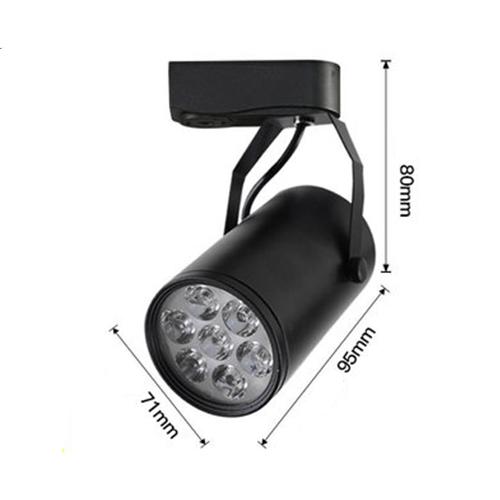 Combo 3 đèn rọi ray + 1 ray 1 mét vỏ đen tiết kiệm năng lượng