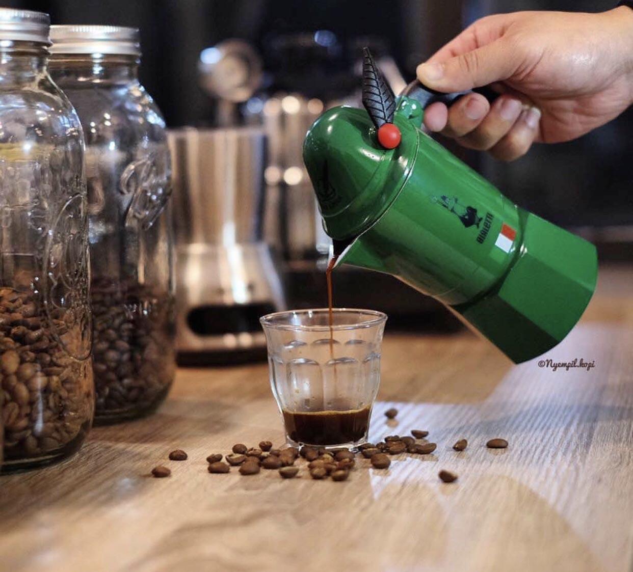 Ấm pha cà phê BIALETTI ALPINA 3CUP (90ML ). Hàng chính hãng