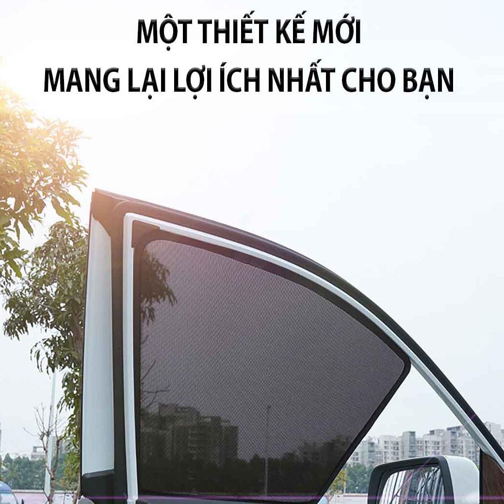 Bộ rèm che nắng ô tô nam châm theo xe MAZDA 3 - Hàng Chính Hãng - Quà tặng cây thông thơm treo xe