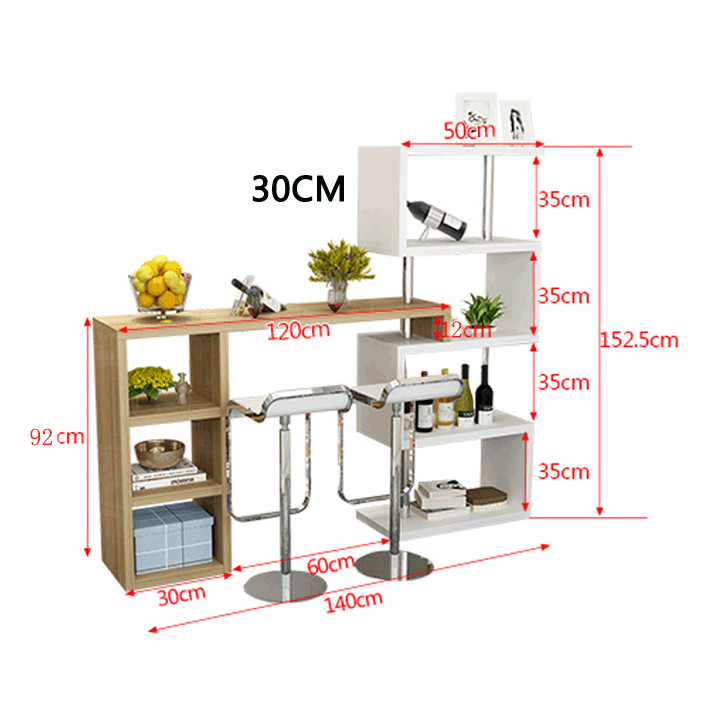 Bàn quầy Bar sáng tạo - bàn quầy bar phòng khách (kt 140x93x152cm)