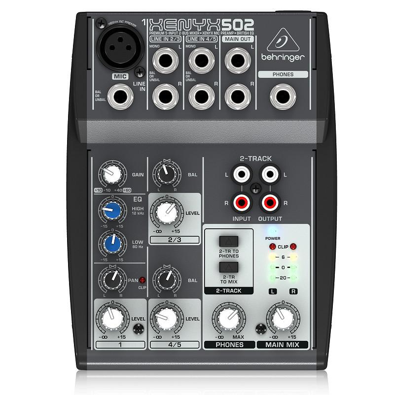 Behringer XENYX 502 5-Channel Analog Mixer-Hàng Chính Hãng