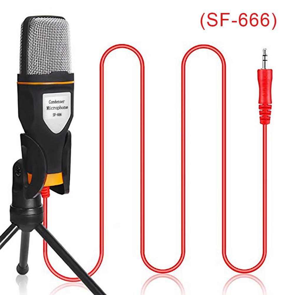 Micro có dây SF-666 chống ồn, live stream , quay video, ghi âm, ghi âm nhạc cụ,  Vlog, Chơi game, Podcasting, trò chuyện qua Zoom, MSN, SKYPE và hát trên Internet Tương thích smartphone, máy tính bảng, máy tính để bàn, laptop - Hàng nhập khẩu
