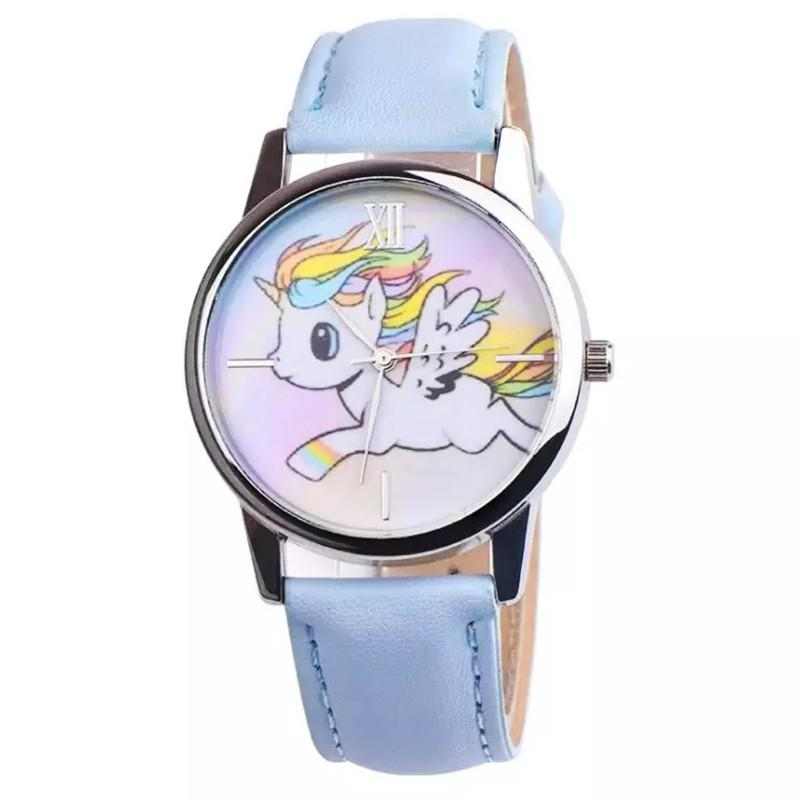 Đồng hồ đeo tay cho bé gái hình ngựa 1 sừng dây da cá tính  – DH006