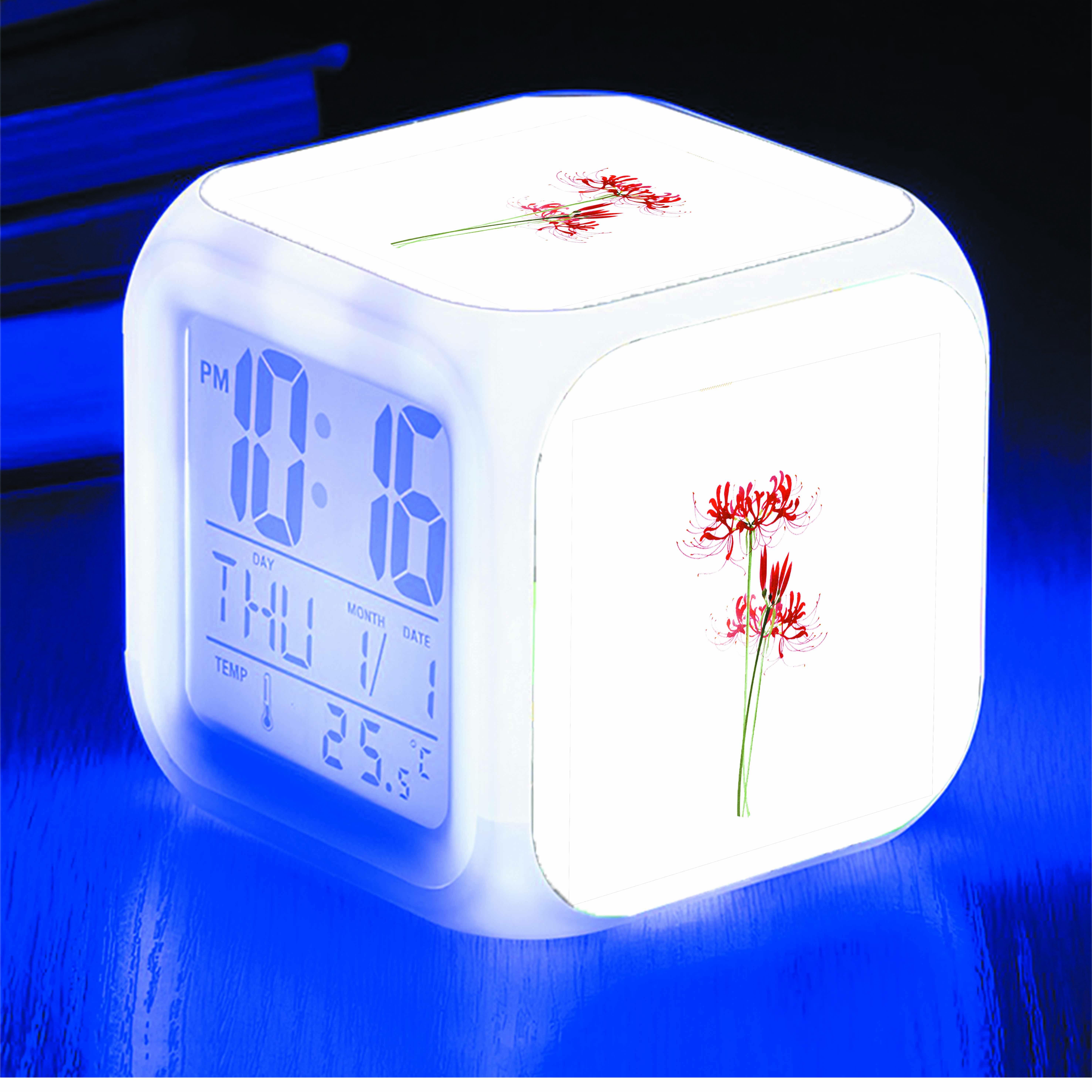 Đồng hồ báo thức để bàn IN HÌNH hoa bỉ ngạn