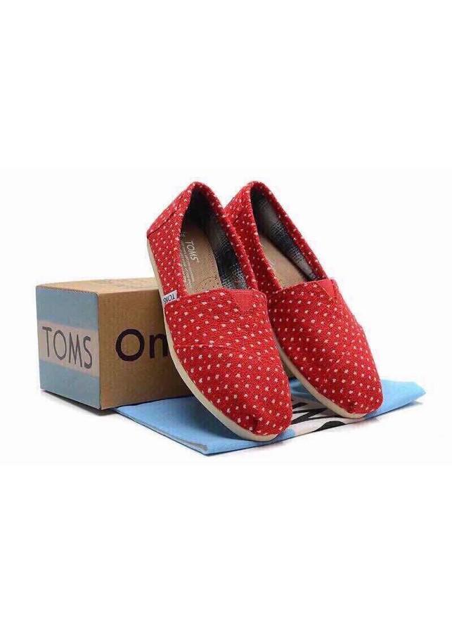Giày Vải Nữ TS62 - Đỏ Chấm Bi