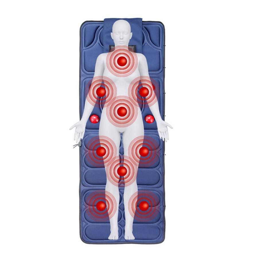 Nệm massage, nệm massage toàn thân, đệm massage gấp gọn tiện lợi sử dụng tại nhà hay văn phòng có điều khiển