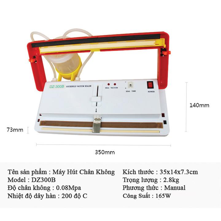 Máy hút chân không DZ300B không kén túi, hút khô và hút ướt, đồ dầu mỡ Hàng Chính Hãng