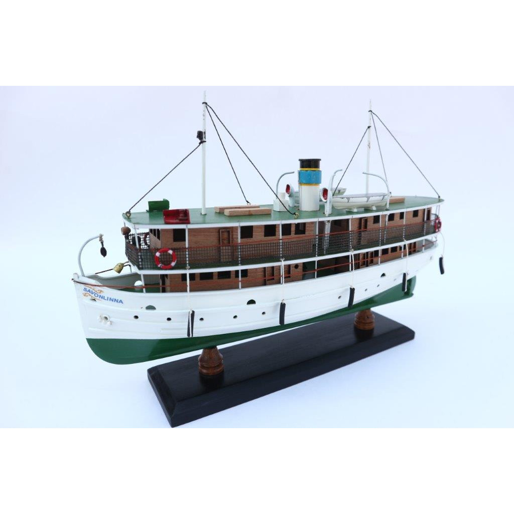 Thuyền gỗ trang trí SS SAVONLINNA - 31cm