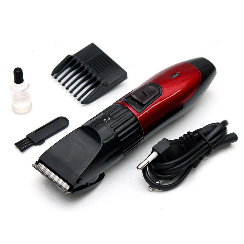 Tông đơ cắt tóc KM730 Đỏ đen