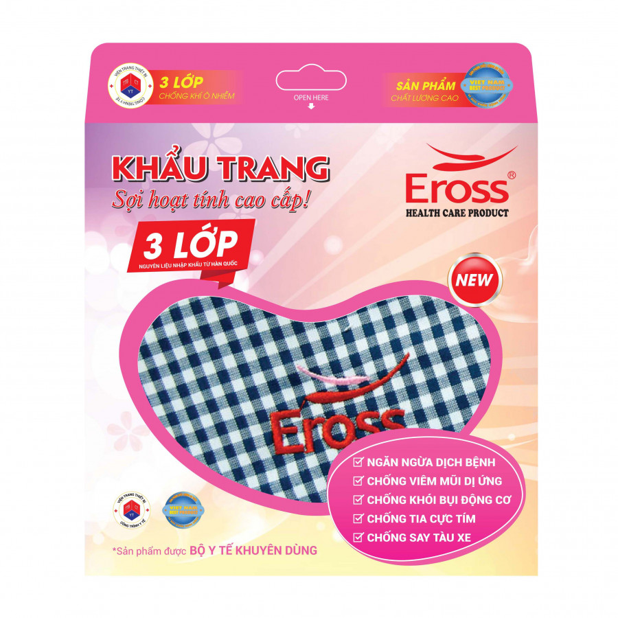 Khẩu trang sợi hoạt tính Eross (màu ngẫu nhiên)