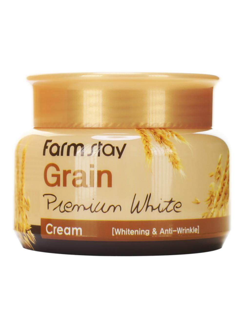 Kem Dưỡng Trắng Da Chống Lão Hóa Mầm Lúa Mì Farmstay Grain Premium White Cream 100g – Hàng Chính Hãng