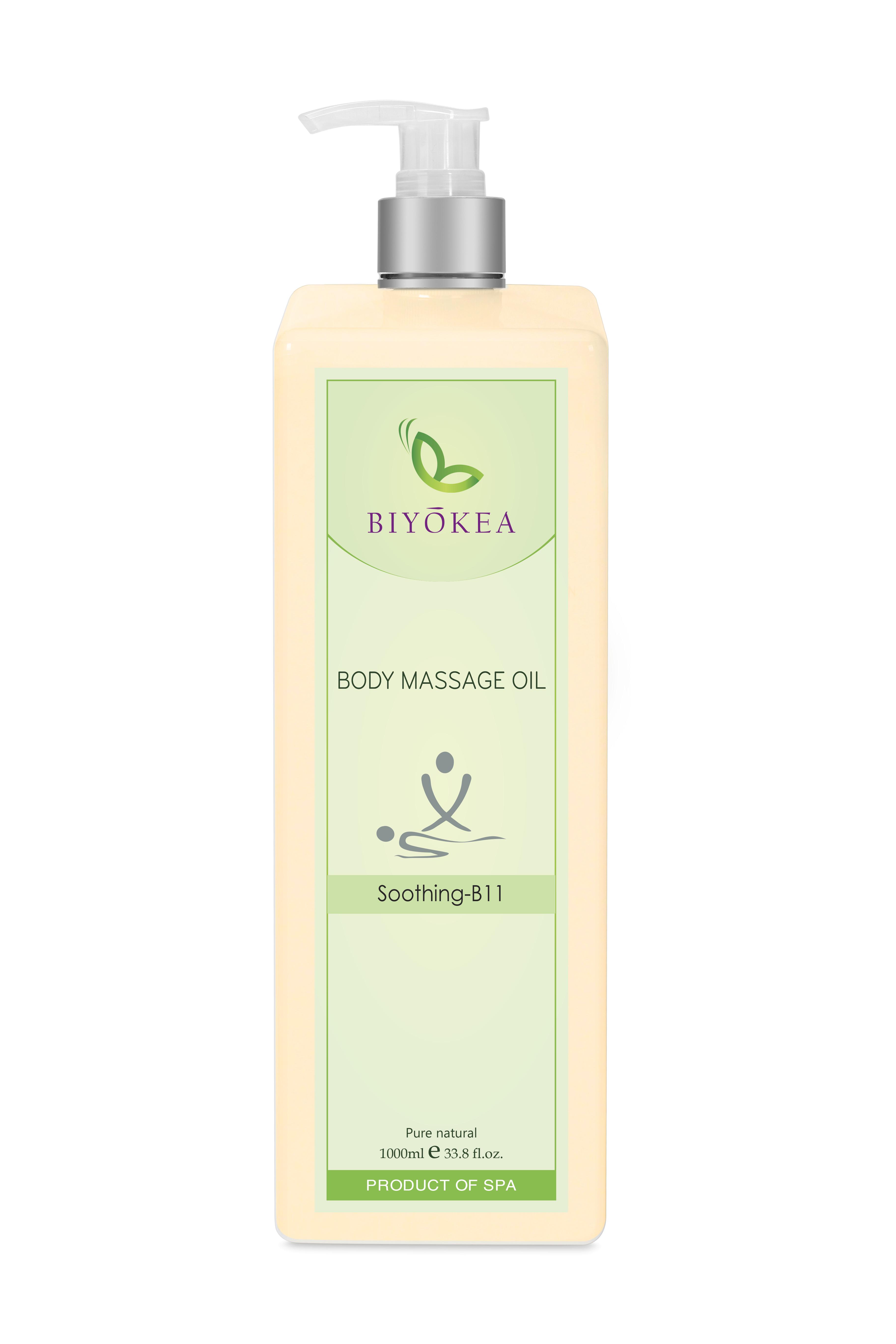 Dầu Massage Body Biyokea - Soothing B11 (làm dịu) - 1000ml