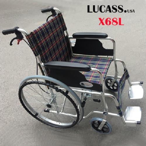 Xe lăn hợp kim nhôm siêu nhẹ Lucass X68L