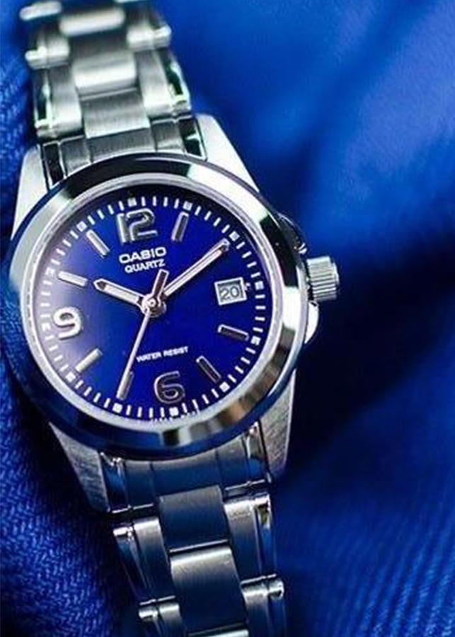 Đồng hồ Nữ Casio dây kim loại mặt kính cứng LTP-1215A-2ADF