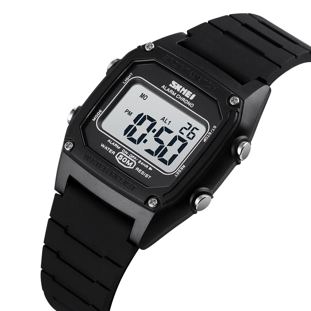 Đồng hồ đeo tay Skmei - 1614BK-Hàng Chính Hãng