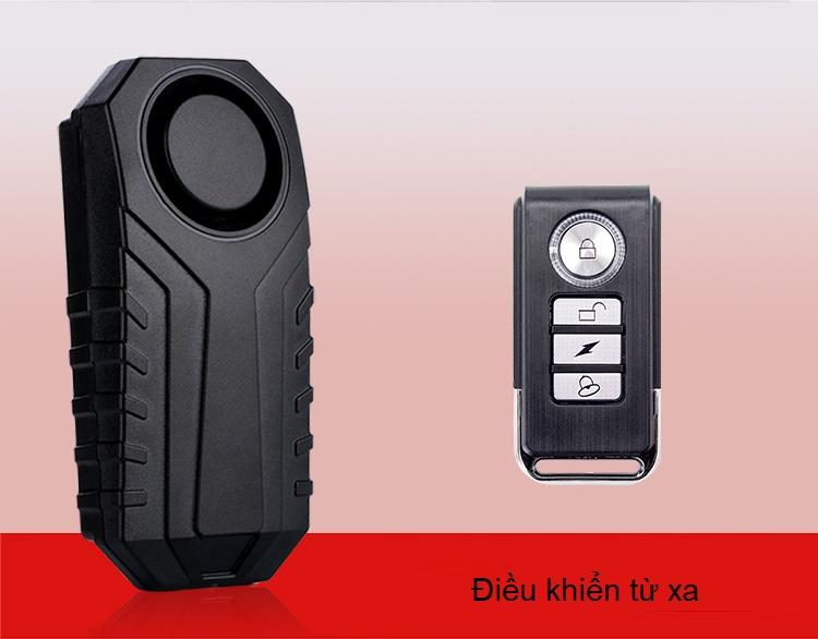 Thiết bị báo động, cảm biến rung KSSF22R( tặng kèm 03 nút kẹp cao su giữ dây điện cố định )