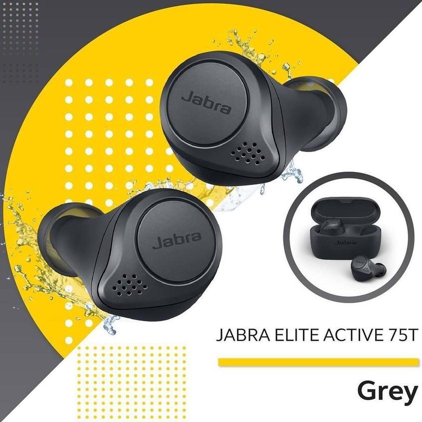 Tai Nghe Bluetooth Jabra Elite Active 75t ( Có Hỗ Trợ Sạc Không Dây ) - Hàng Nhập Khẩu