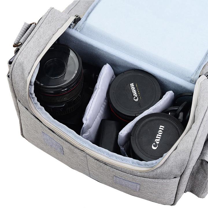 Túi đựng máy ảnh thời trang cao cấp, tặng túi trùm chống nước - Oz132