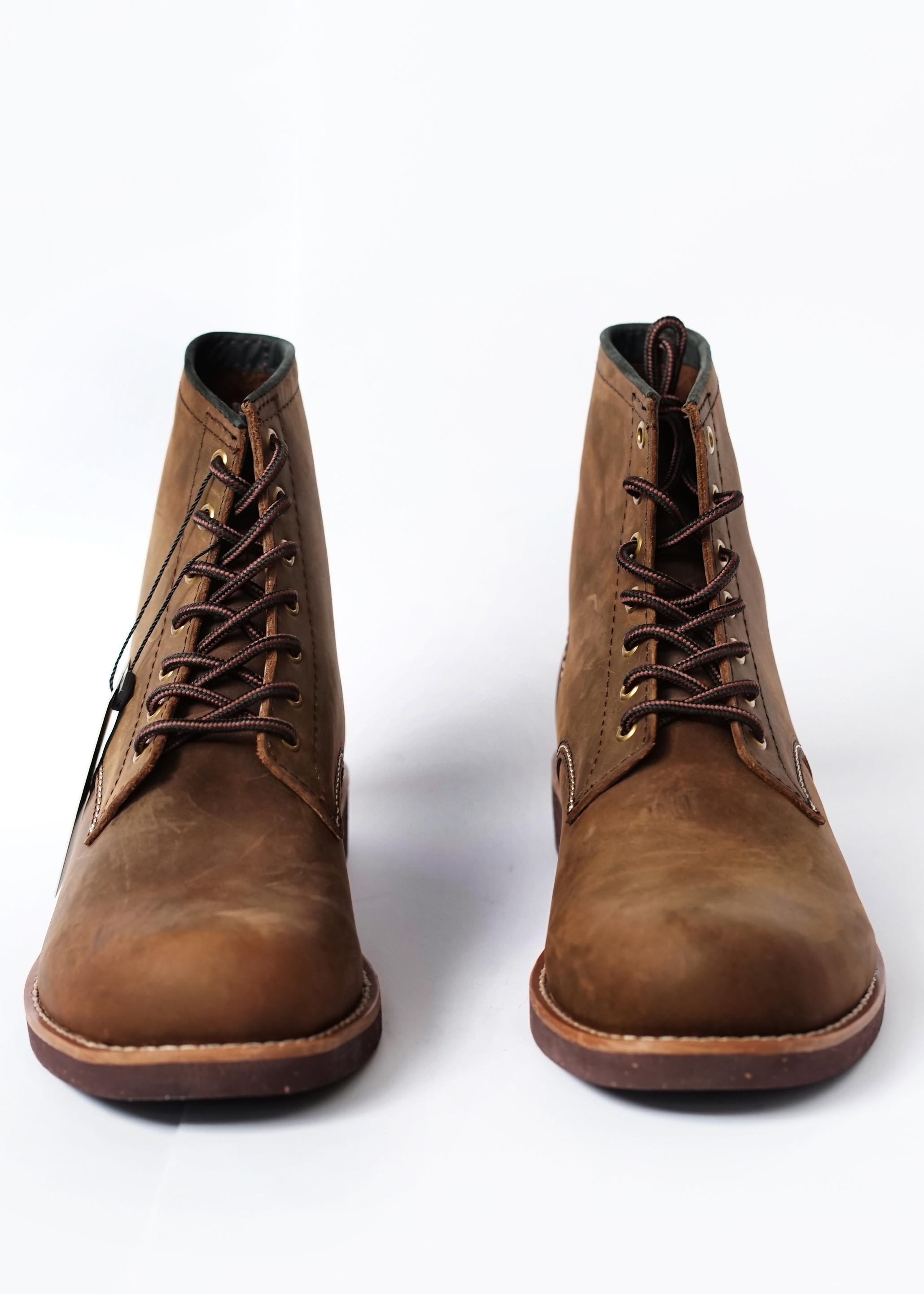 Giày nam cao cổ Beckmen da bò chất lượng cao phong cách vintage