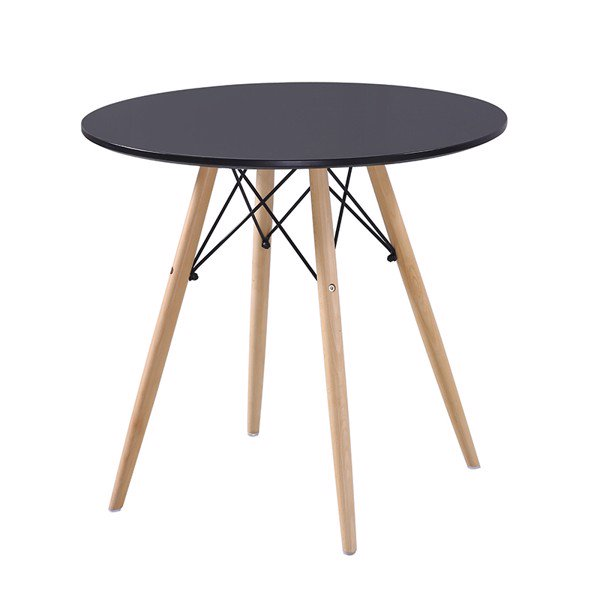 Bộ bàn ăn  tròn Veron 2 ghế (đen) Ohaha