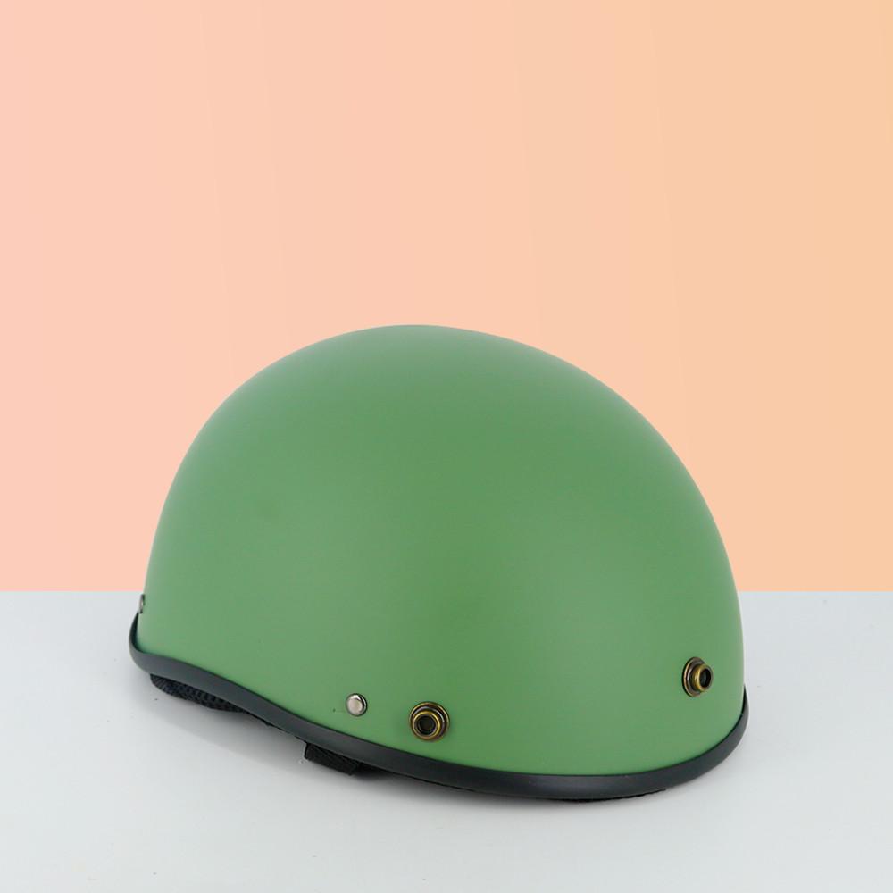 Mũ bảo hiểm nửa đầu 1/2 - Mũ bảo hiểm trơn (lồng ép nhiệt) - Tặng kèm lưới chai