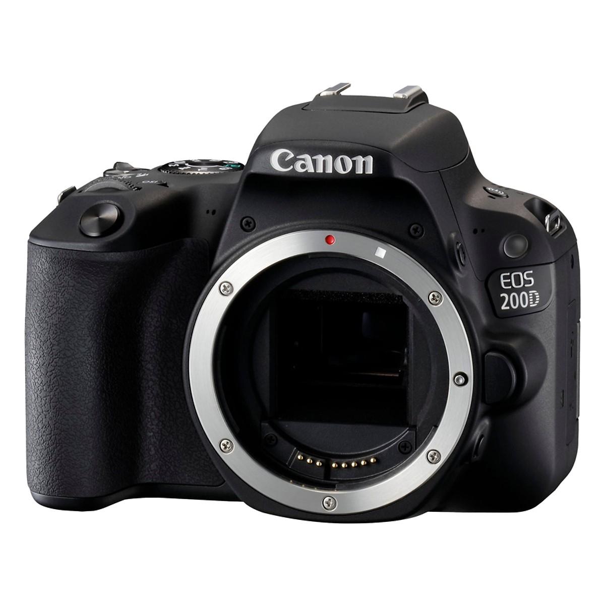 Máy Ảnh Canon EOS 200D + 18-55mm IS STM (Đen) - Hàng Nhập Khẩu