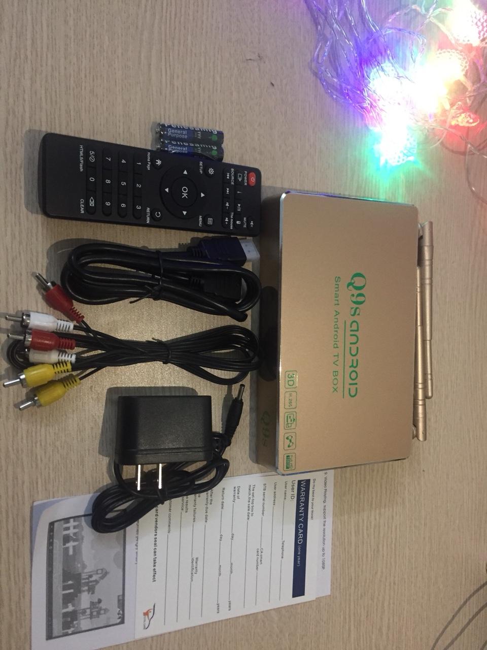 ANDROID TV BOX Q9S RAM 1GB KÈM CHUỘT FORTER V181