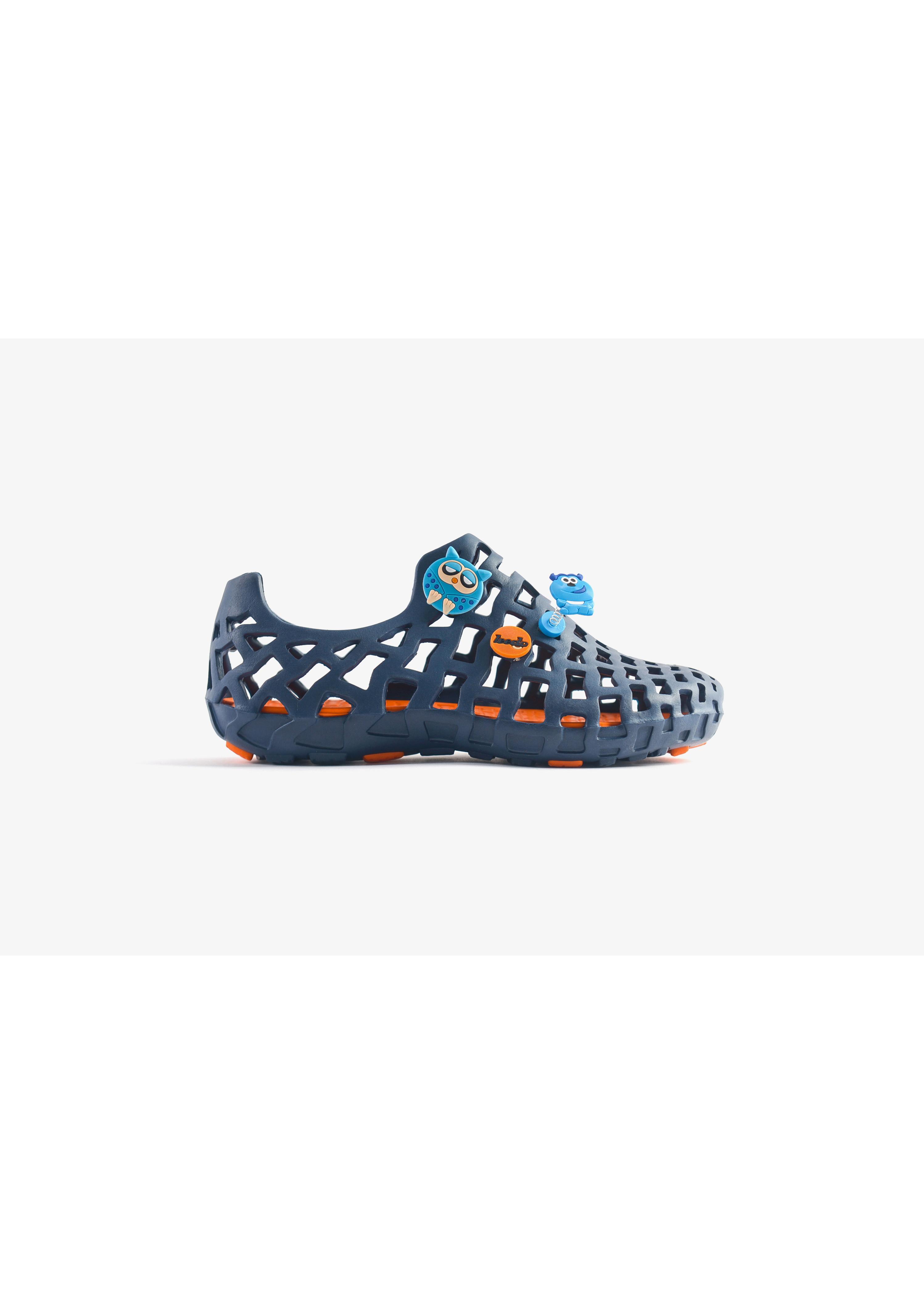 Giày nhựa đi mưa Nam LD 101 Pop Xanh dương cam