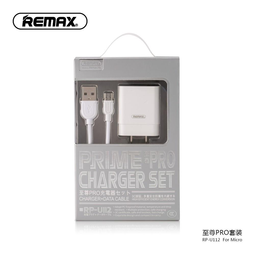 Bộ Củ Sạc REMAX RP-U112 Micro - Hàng Chính Hãng