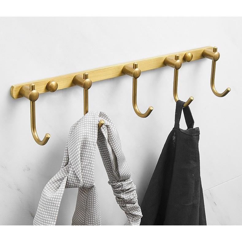 Móc treo đồ phòng tắm tắm bằng đồng cao cấp 28cm LI-GD387 - Đơn giản, bền bỉ