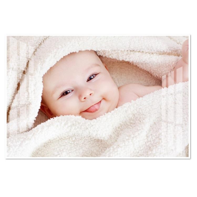 Tranh treo tường em bé đáng yêu baby cute treo phòng bà bầu BB0010 viền trắng