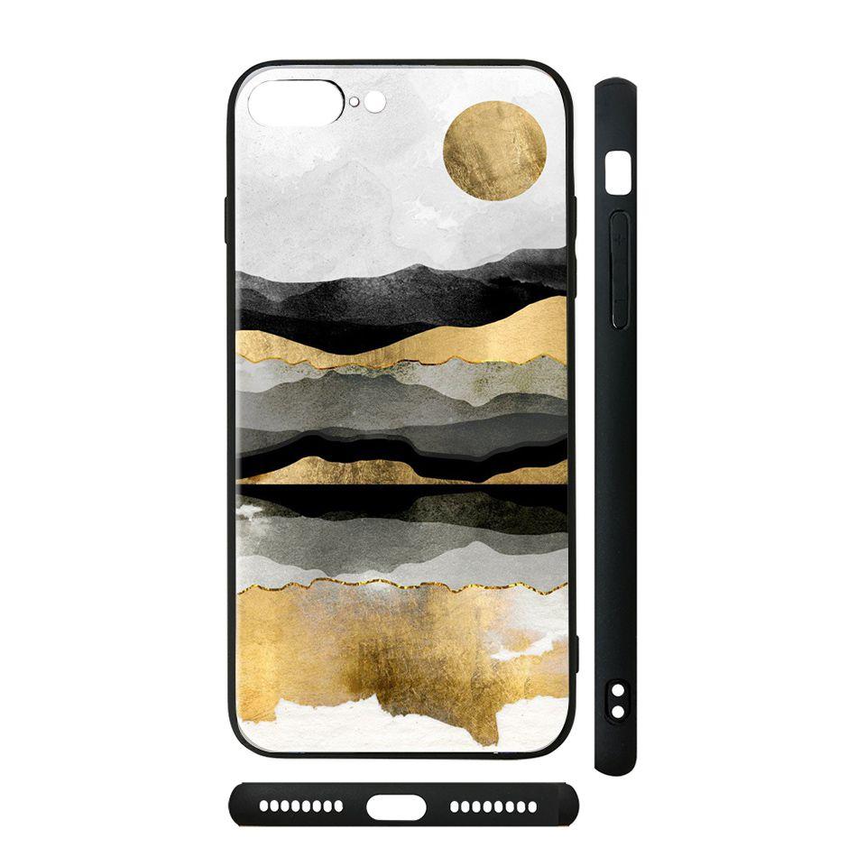 Ốp kính cho iPhone in hình Trăng vàng giả sơn mài - GSM192 có đủ mã máy - iPhone XS Max