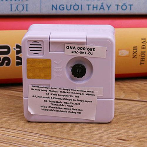 Đồng Hồ Để Bàn - Du Lịch Casio TQ-140-7DF Có Báo Thức, Dạ Quang ( 5.7 x 5.7 x 3.3 cm)