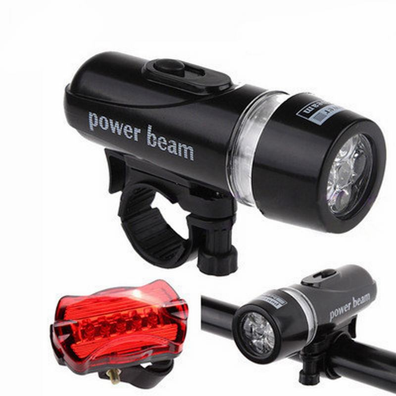 Combo đèn pin + đèn chiếu hậu xe đạp tặng đèn led van xe