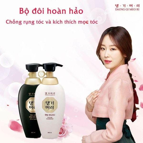 Cặp gội xả Doori nhân sâm chống rụng và kích thích mọc tóc thảo mộc Hàn Quốc 500ml tặng móc khóa