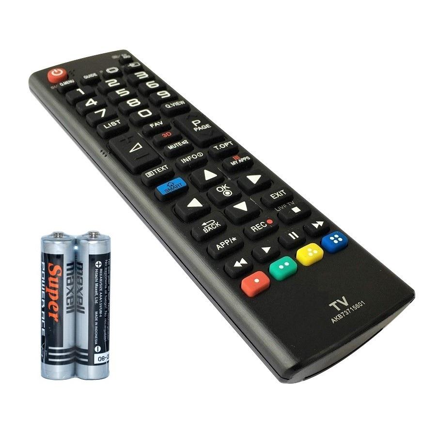 Remote Điều Khiển Dành Cho Smart TV LG, Internet TV, TV Thông Minh LG AKB73715601 (Kèm Pin AAA Maxell) - Hàng nhập khẩu