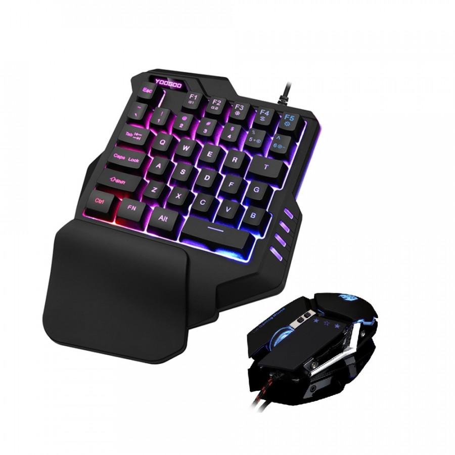 Bộ Bàn phím giả cơ YOOGOO G92 và chuột T06 chuyên game có thể chơi game  trên điện thoại, ipad, latop - Hàng nhập khẩu
