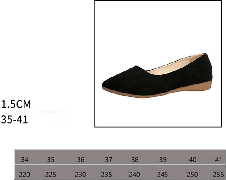 Giày búp bê da lộn nữ phong cách công sở kiểu dáng cơ bản V211