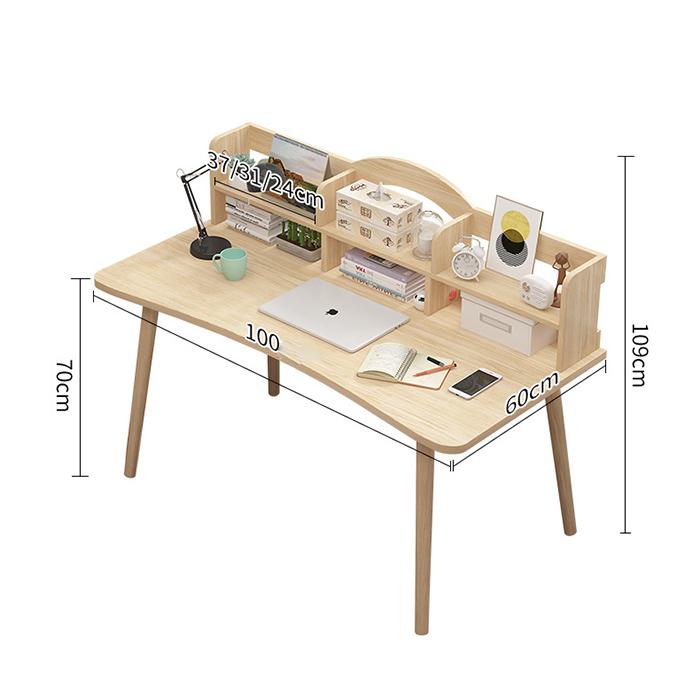 Bàn làm việc Cỡ 60 cm có ngăn để đồ mặt bàn xinh xắn BGA018-19- Giao hàng màu ngẫu nhiên.