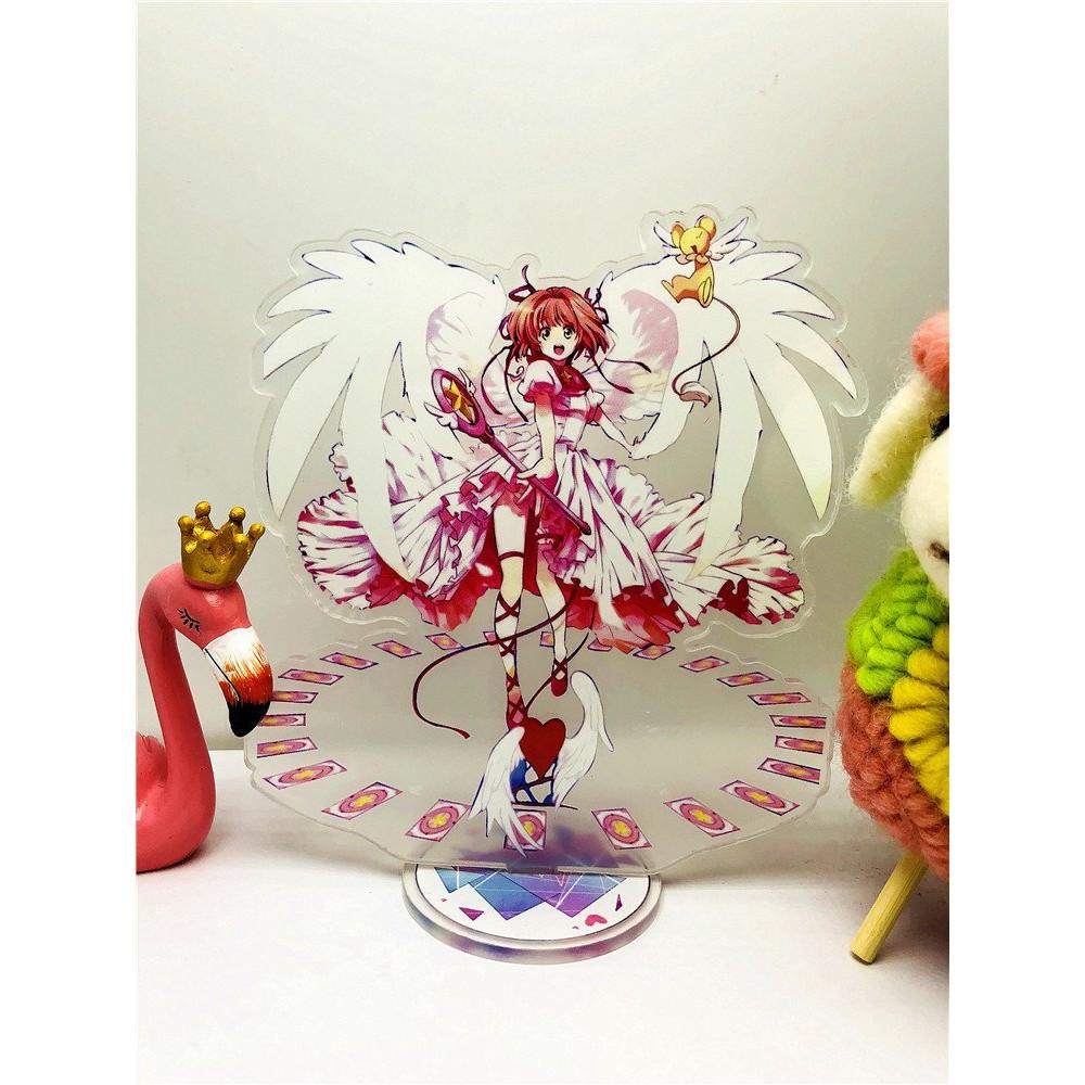 Standee SAKURA THỦ LĨNH THẺ BÀI Tượng Acrylic Standee Anime mica chibi trang trí trưng bày mô hình